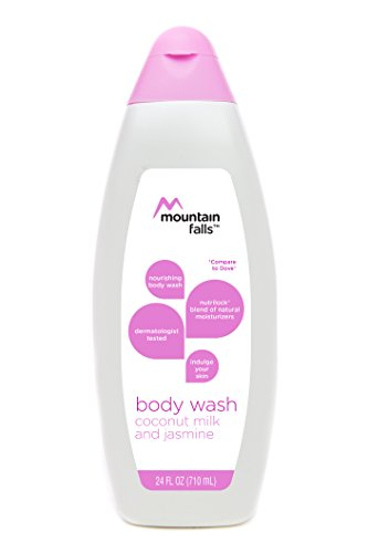 Mountain Falls Body Wash, Coconut Milk and Jasmine, with Nutrilock Blend of Natural Moisturizers, Compare to Dove, 24 Fluid Ounce (Body Jasmine Wash Coconut)