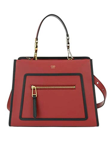 Fendi Red RUNAWAY Shoulder Hand-bag Calf Leather Shopping Tote 8BH344