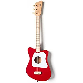 Loog Mini Acoustic Guitar 3-String Guitar, Red