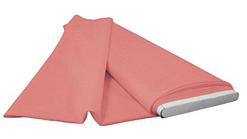 LA Linen Polyester Poplin Flat Fold Fabric, 10 yd, Dusty Rose