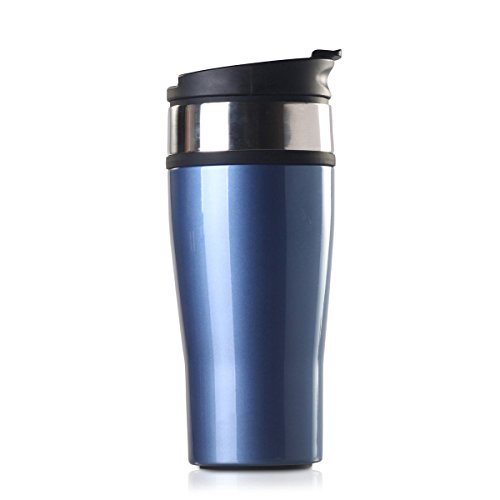 Timolino PCT-46KMAB 16-Ounce Icon Vacuum Tumbler, Aqua Blue (Product Packaging May Vary)