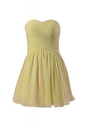 Party Strapless Dress Mini light 25 Yellow BM800N Dress Dress Bridesmaid DaisyFormals Cocktail qOR4wTZ
