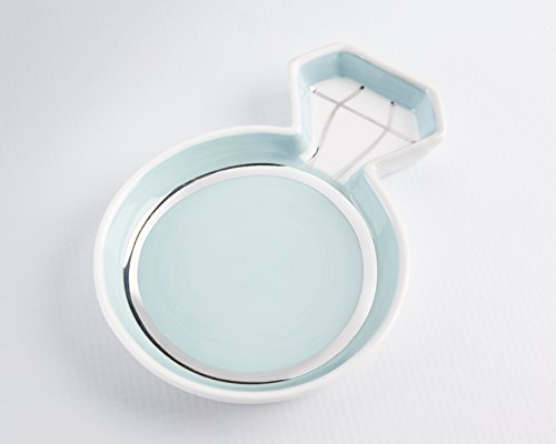Kate Aspen, Diamond Ring Trinket Dish, Jewelry Holder/Catchall Ceramic Gift, Perfect for Bridal Shower and Party