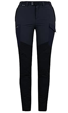ililily Comfy Stretch Warmth Down Alternative Lining Hiking Outdoor Active Pants (pants-305-2-34)