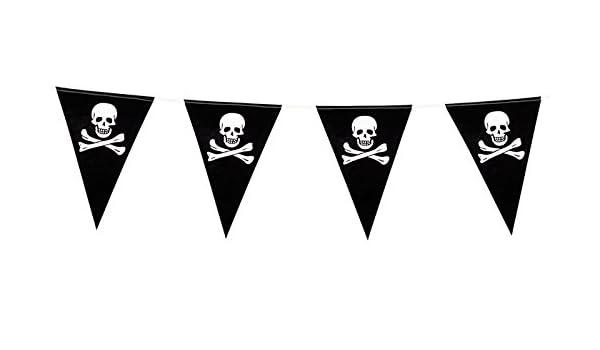 Boland - Cadena de banderillas, diseño con calavera pirata ...