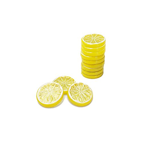 LEAFBABY 12 PCS Realistic Fake Artificial Lemon Limes Slice Simulation Fruit Model Decor Home Party Decoration Kids Cognitive Toys