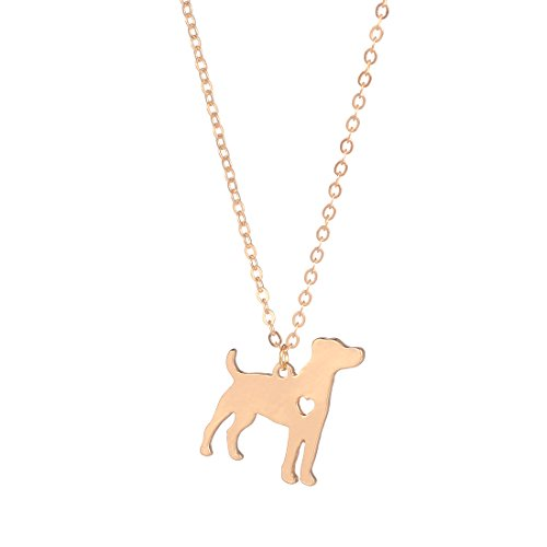 Necklace Russell Jack (YuQiang Gold Jack Russell Terrier Dog Pendant Jewelry Breed Pet Jewelry Memorial Gift Hunters lovers)