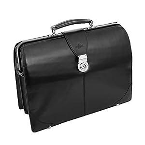 Genuine Black Leather Doctors Bag Professionals Briefcase Framed Gladstone Bag Medic