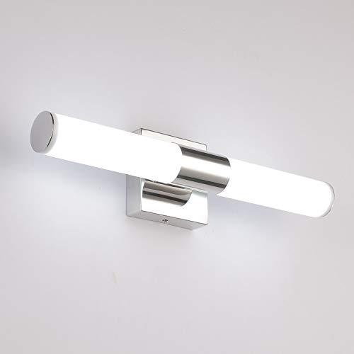 Bathroom Vanity Light 6000K 15.7 inches 8W LED Wall Light Modern Bedside Sconces Lighting Fixture Chrome