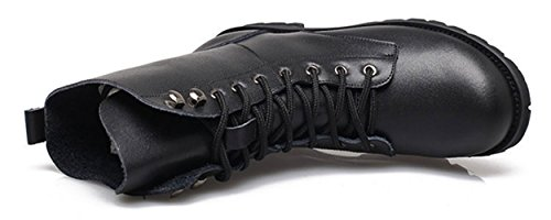 Combat Boots For Women Military Lace Up Combat Boots Mid-Calf Boots Mid Knee High Boots Cosplay Boots (US8.5/EU40/UK7/CN41/25.5CM, Black)