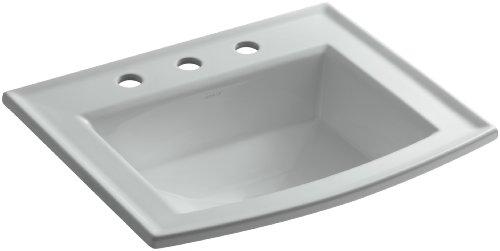 KOHLER K-2356-8-95 Archer Self-Rimming Bathroom Sink with 8-Inch Centers, Ice Grey Archer Self Rimming Bathroom Sink