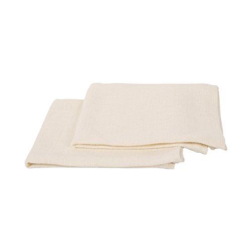 Linenme Toallas de mano y visitas Lara de lino. Juego de 2. Color crema 33 x 50 cm. 0009002