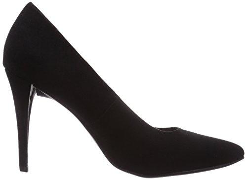 Marco Tozzi 22418 - zapatos de tacón cerrados de lona mujer negro - Schwarz (Black / 1)