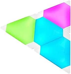 Nanoleaf 2724651479166 Rhythm Edition Smarter kit - Modular LED lights - home decor Touch, Voice, Rhythm and Application sensitive- Multicolor-Set of 9 panels + 1 controller