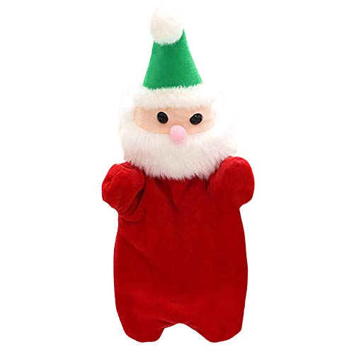 (Christmas Kids Glove Hand Puppet,Cute Cartoon Animal Doll Plush Finger Toys by PSFS (Red))