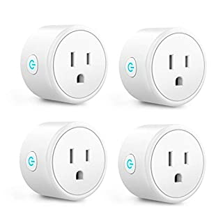 Alexa Smart Plugs - Aoycocr Mini WIFI Smart Socket Switch Works With Alexa Echo Google Home, Remote Control Smart Outlet with Timer Function, No Hub Required, ETL/FCC Listed 4 Pack Only 2.4GHz Network