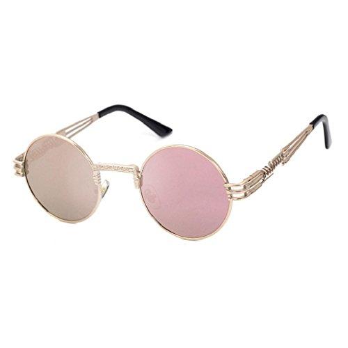 Lunettes miroir de Lunette nbsp; femmes de Vintage air Unisexe H soleil Sports Square Soleil Lunettes IMJONO de Round Glasse Hommes plein zqZw7q