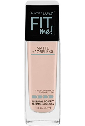 Maybelline New York Fit Me Matte + Poreless Liquid Foundation Makeup, Fair Ivory, 1 fl. oz. Oil-Free Foundation ()