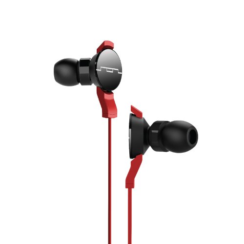 SOL REPUBLIC 1101-33 AMPS In-Ear Headphones - Free Ear Tips for Life - Red