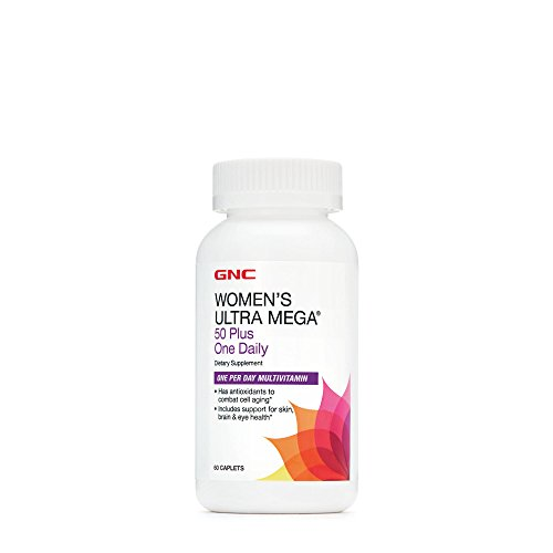 GNC Womens Ultra Mega 50 Plus One Daily, 60 Caplets