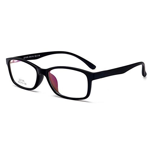 Filles Garçons Lunettes - TR90 Verres à lentilles transparentes Cadre Geek / Nerd Eyewear Lunettes avec boîtier en forme de voiture - hibote Noir 2