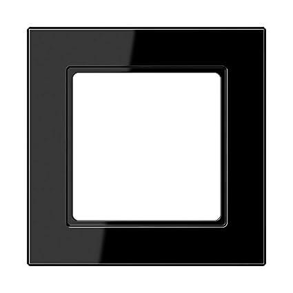 Jung AC581SW - Marco embellecedor montaje vertical horizontal 1 elemento negro