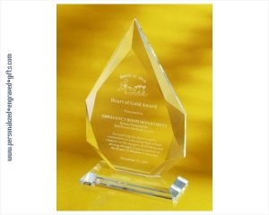 ANEDesigns Engraved Crystal Flame Apex Award
