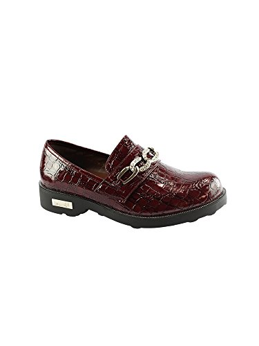 (Liyu Adult Red Patent Croc Chain Detail Slip-On Oxford Shoes 7 Women)