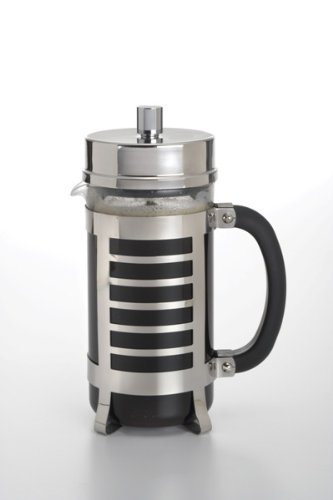 BonJour Coffee Glass and Stainless Steel French Press, 33.8-Ounce, Linear by BonJour (Image #1)