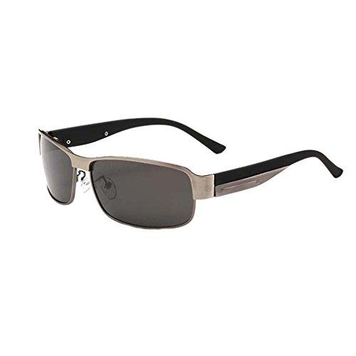 UV retro de conducción Marco de protección Bloqueador sol lente de sol Gafas de marco Gris lentes gafas metal las de de de Gafas polarizadas solar Hombre ZdwqBCB