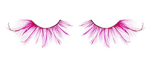 Big Finish Dance Costume - Zinkcolor Shocking Hot Pink Feather False Eyelash F402 Dance Costume Halloween