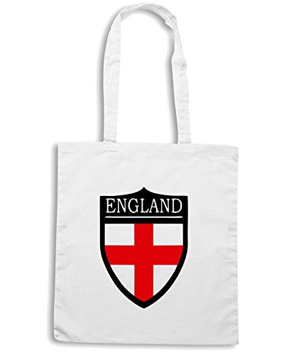 Bianca TSTEM0031 Shopper FLAG Speed Shirt Borsa ENGLAND PATCH BIxBHwt