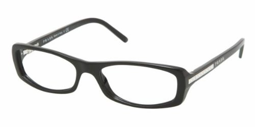 Prada PR 09 MV (1AB1O1) GLOSS BLACK 53mm 16mm