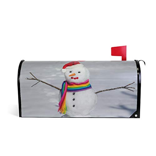 ALAZA Nice Snowman Magnetic Mailbox Cover Standard Size-18