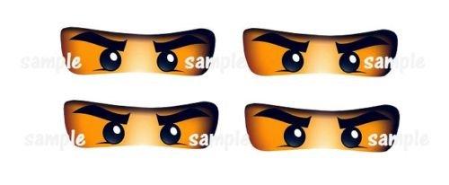 Ninja Eyes - 12 Printed Glossy ninjago inspired eyes,