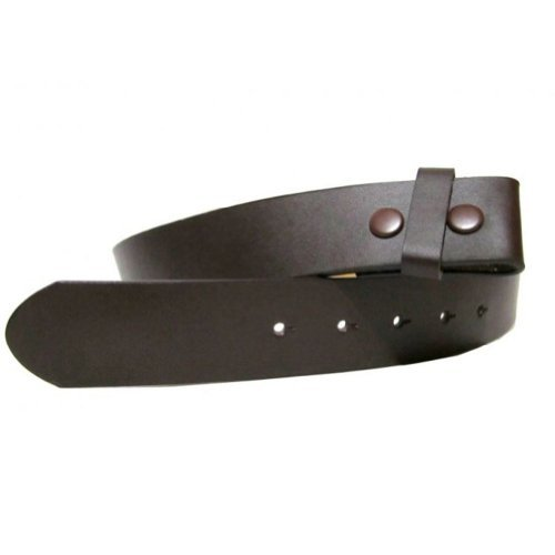 Brown 1.5 inch Wide Snap Removable Buckle Belt Small