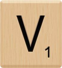 Wooden Tiles Separate Letters 2 Pieces and 5 Pieces Alphabet Tile by Lizzy/® J x5 Tiles