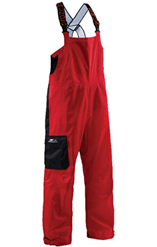 (Grundéns Men's Weather Watch Fishing Bib Trousers, Red - Large)