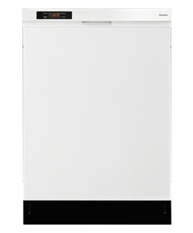 Blomberg DWT24100W 24″ Full Console Built-In Dishwasher with 4 Wash Cycles 12 Place Settings Quiet 50 dBA 5 Wash Temps Electronic Display and Energy Star Rated in