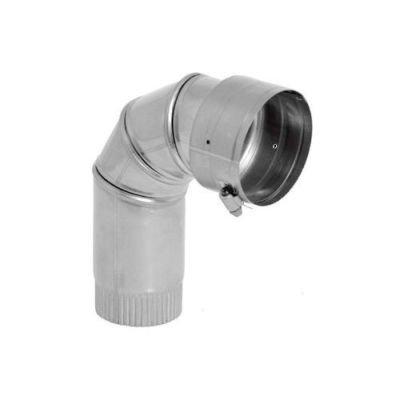 Galvanized 90 Degree Ventinox VFT Adjustable Elbow - 6''