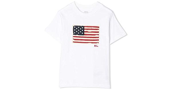 Polo Ralph Lauren - Camiseta Bandera NIÑO (8 AÑOS): Amazon.es ...