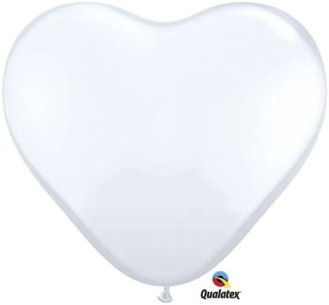 "Carnival Assorted Heart Shaped 6/"" Qualatex Latex Balloons x 10"