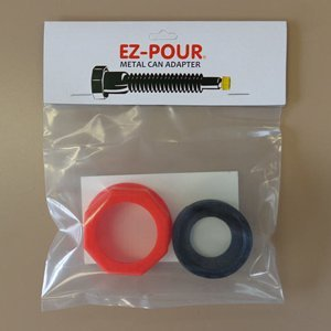Metal Gas Can Adapter - Add An EZ-POUR Spout To Your Metal Gas (Fuel Cap Adapter Set)