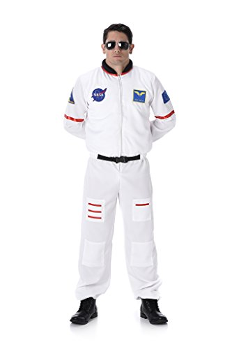 Male  (White Astronaut Adult Costumes)