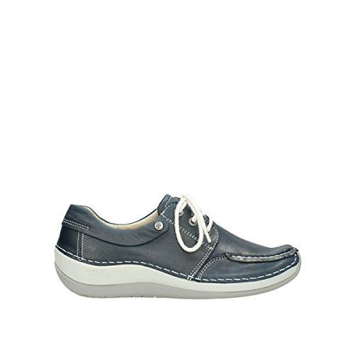 Blue Jewel Leather Wolky Comfort 80870 wtSg5Aq