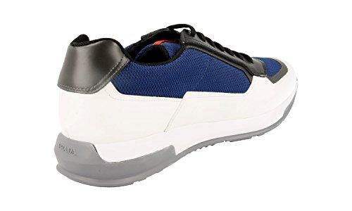 Prada Menns 4e3020 Skinn Sneaker