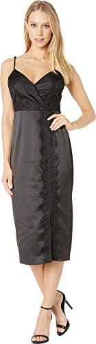 BCBGeneration Women's LACE Overlay Slip Dress, Black, 6