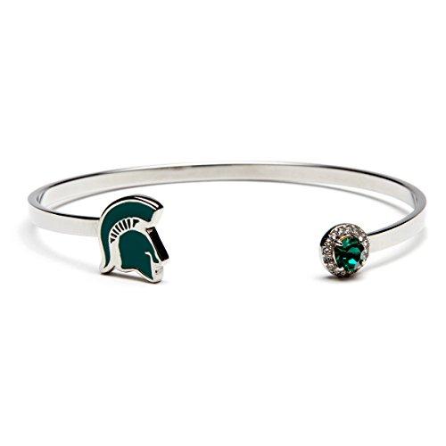 Michigan State Spartan Helmet Bracelet | Michigan State University Jewelry | Michigan State Gifts