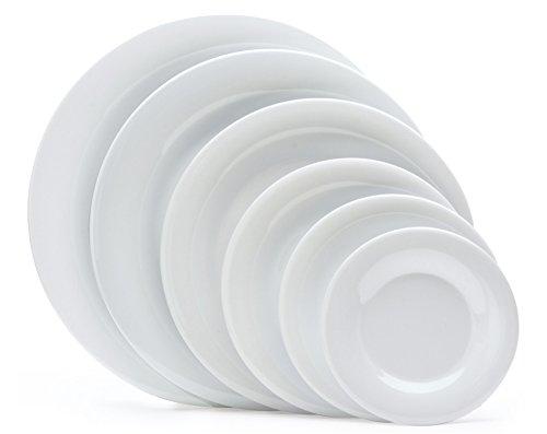 G.E.T. Enterprises 9'' Diamond White Wide Rim Plate, Break Resistant, Diamond White by GET WP-9-DW-EC (Pack of 4)