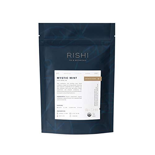 Rishi Mystic Mint Tea, Organic Caffeine-Free Loose Leaf Herbal Tea Blend, 1 lb Bag